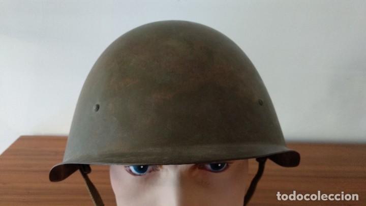 Militaria: Original casco de la antigua Unión Soviética URSS modelo 40 IIGM 2aGM Stalnoy Shelm 40 CIII40 - Foto 6 - 206919581