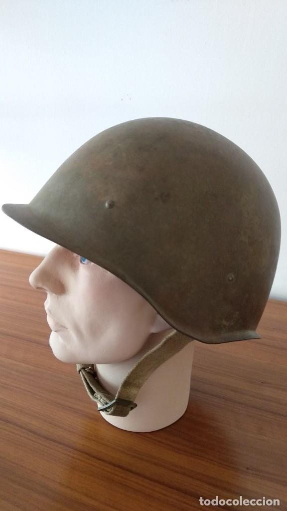 Militaria: Original casco de la antigua Unión Soviética URSS modelo 40 IIGM 2aGM Stalnoy Shelm 40 CIII40 - Foto 7 - 206919581