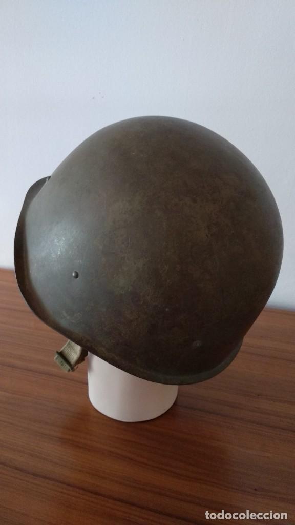 Militaria: Original casco de la antigua Unión Soviética URSS modelo 40 IIGM 2aGM Stalnoy Shelm 40 CIII40 - Foto 8 - 206919581