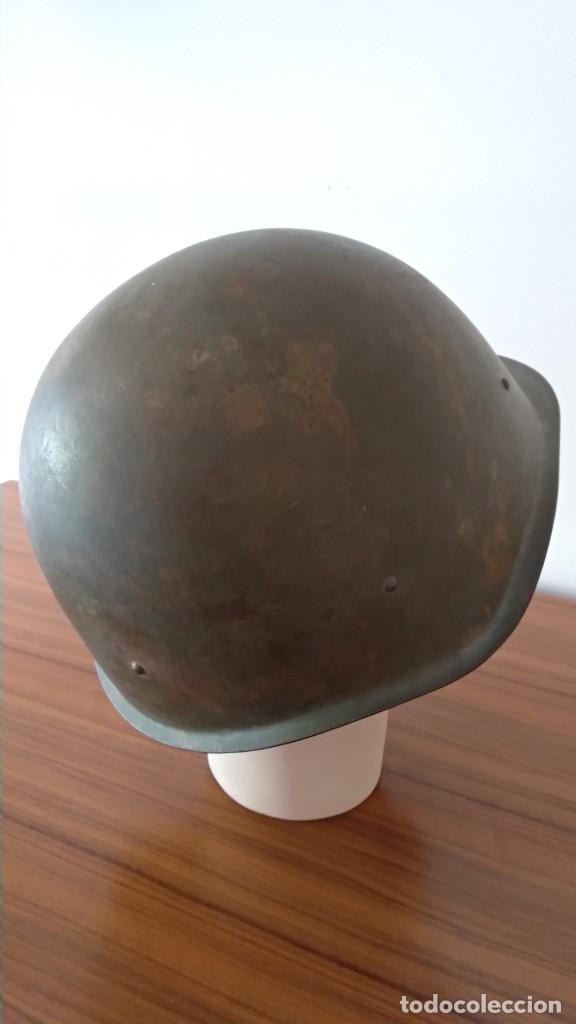Militaria: Original casco de la antigua Unión Soviética URSS modelo 40 IIGM 2aGM Stalnoy Shelm 40 CIII40 - Foto 10 - 206919581
