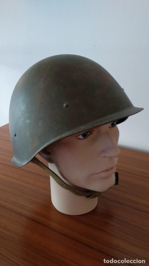 Militaria: Original casco de la antigua Unión Soviética URSS modelo 40 IIGM 2aGM Stalnoy Shelm 40 CIII40 - Foto 11 - 206919581