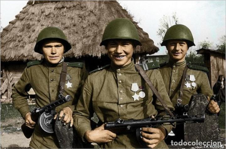 Militaria: Original casco de la antigua Unión Soviética URSS modelo 40 IIGM 2aGM Stalnoy Shelm 40 CIII40 - Foto 14 - 206919581