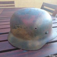 Militaria: CASCO STAHLHELM ALEMÁN MODELO 40 CAMUFLAJE OLLA ORIGINAL. Lote 207249655