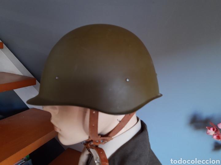 Militaria: Casco ruso SH40 WW2, fabricado en los años 50. URSS CCCP - Foto 2 - 208010391