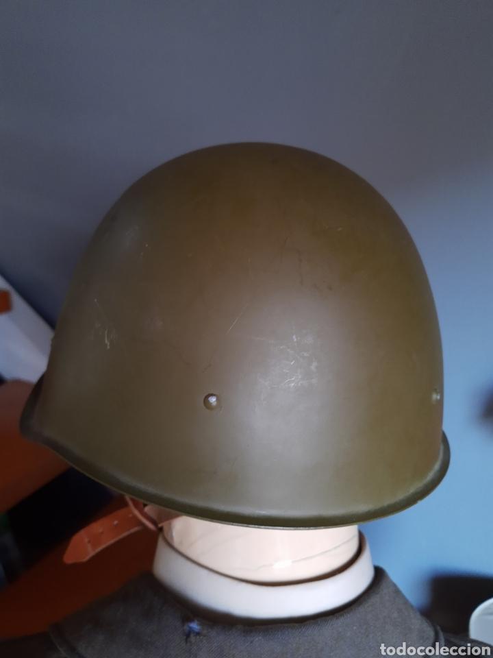 Militaria: Casco ruso SH40 WW2, fabricado en los años 50. URSS CCCP - Foto 3 - 208010391