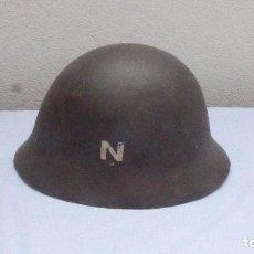 Militaria: * ANTIGUO CASCO SUECO O NORUEGO CON CALCAS A IDENTIFICAR, ORIGINAL. ZX. Lote 208975105