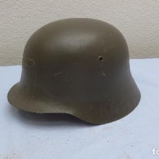 Militaria: * ANTIGUO CASCO ESPAÑOL MODELO Z42 PRIMER MODELO, INTERIOR DE CUERO, ORIGINAL. Z-42. ZX. Lote 209060515