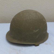 Militaria: * ANTIGUO CASCO M1 ESPAÑOL PARA LA BRIGADA PARACAIDISTA, BRIPAC, ORIGINAL. ZX. Lote 209202455