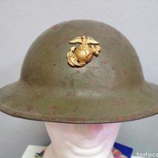Militaria: CASCO AMERICANO USMC MODELO 1917 A1 ORIGINAL WW2. Lote 212585496