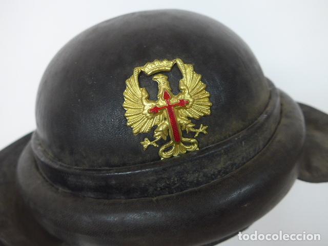 Militaria: Antiguo casco de tanquista español, original - Foto 2 - 213663476