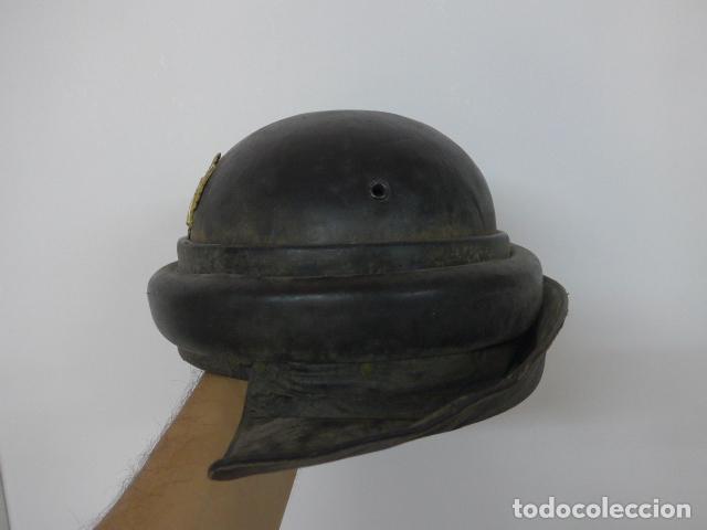 Militaria: Antiguo casco de tanquista español, original - Foto 4 - 213663476
