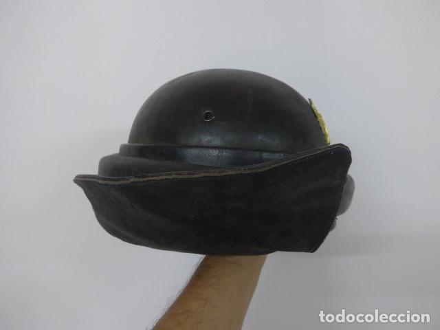 Militaria: Antiguo casco de tanquista español, original - Foto 5 - 213663476