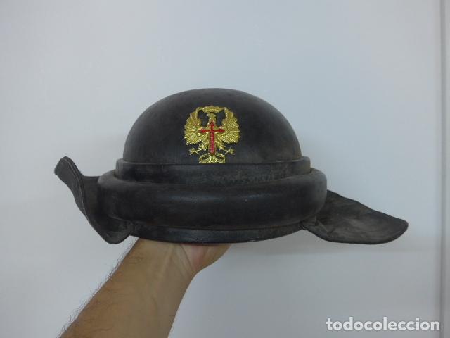 ANTIGUO CASCO DE TANQUISTA ESPAÑOL, ORIGINAL (Militar - Cascos Militares )
