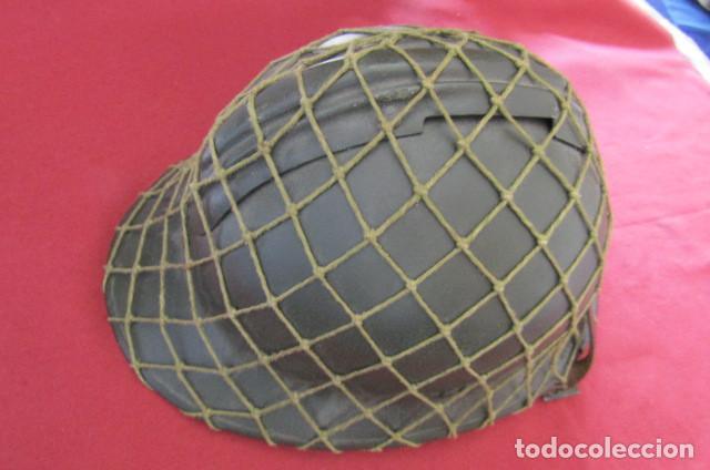 Militaria: Antiguo casco militar del ejercito francés modelo Adrian de infantería II segunda guerra mundial - Foto 7 - 209042020