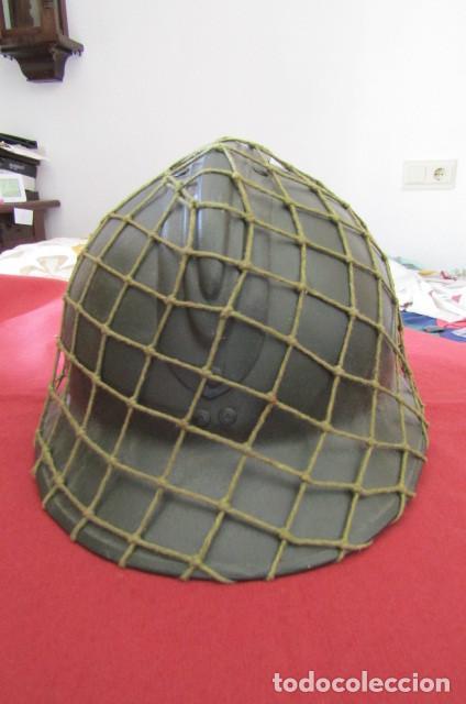 Militaria: Antiguo casco militar del ejercito francés modelo Adrian de infantería II segunda guerra mundial - Foto 8 - 209042020