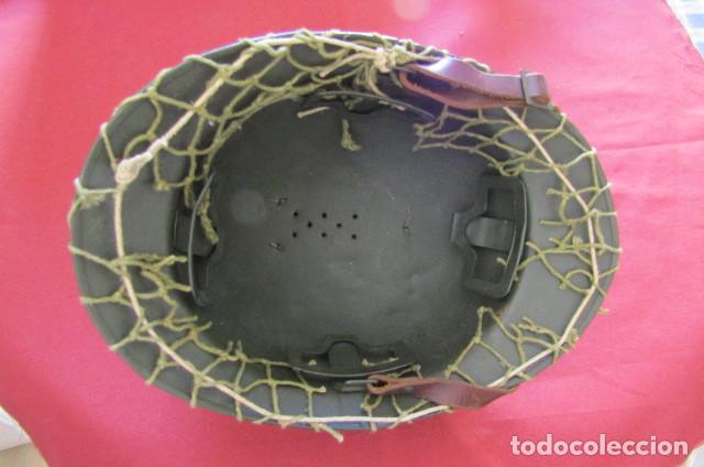 Militaria: Antiguo casco militar del ejercito francés modelo Adrian de infantería II segunda guerra mundial - Foto 11 - 209042020