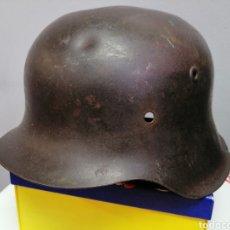 Militaria: CASCO ALEMAN DE COMBATE MODELO 42 WEHRMACHT ORIGINAL WWII M42. Lote 214641298