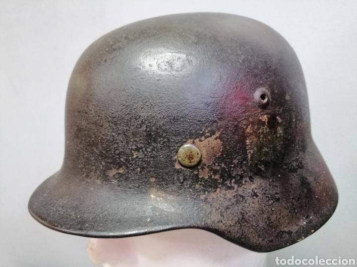 Militaria: Casco Aleman de Combate M35 Wehrmacht Combate Original M35 WWII - Foto 2 - 215370407