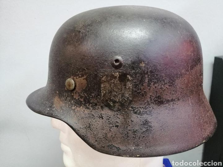 Militaria: Casco Aleman de Combate M35 Wehrmacht Combate Original M35 WWII - Foto 3 - 215370407