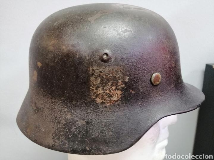 Militaria: Casco Aleman de Combate M35 Wehrmacht Combate Original M35 WWII - Foto 8 - 215370407