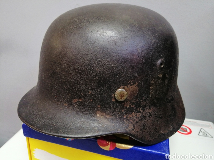 Militaria: Casco Aleman de Combate M35 Wehrmacht Combate Original M35 WWII - Foto 16 - 215370407