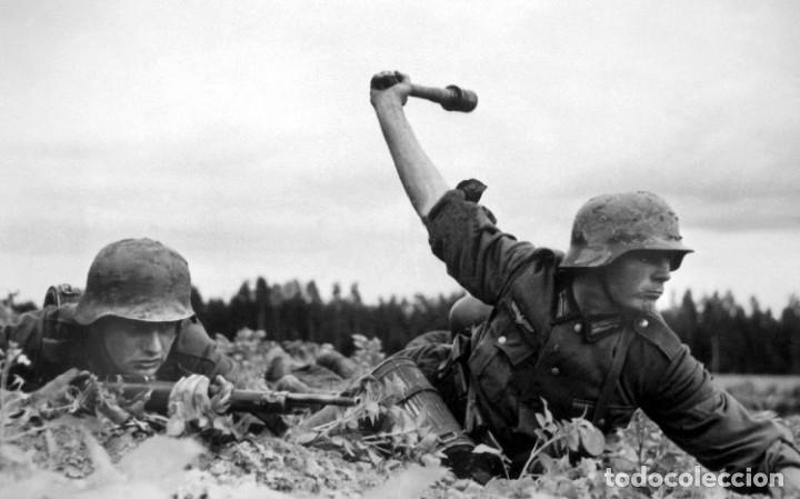 Militaria: Casco Aleman de Combate M35 Wehrmacht Combate Original M35 WWII - Foto 19 - 215370407