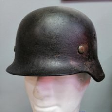Militaria: CASCO ALEMAN DE COMBATE M35 WEHRMACHT COMBATE ORIGINAL M35 WWII. Lote 215370407
