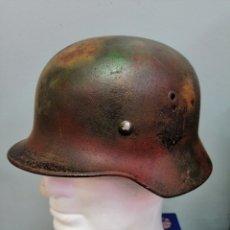 Militaria: CASCO ALEMAN DE COMBATE MODELO 40 CAMUFLAJE NORMANDIA ORIGINAL WWII. Lote 215542258