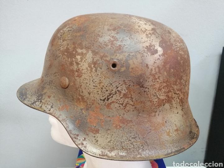 Militaria: Casco Aleman de Combate Modelo 42 Camuflaje Tropical Original WWII - Foto 2 - 215615872