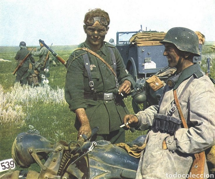 Militaria: Casco Aleman de Combate Modelo 42 Camuflaje Tropical Original WWII - Foto 14 - 215615872