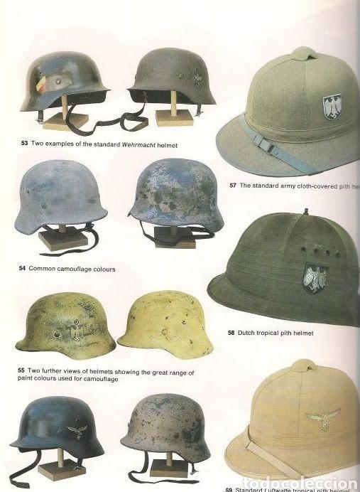 Militaria: Casco Aleman de Combate Modelo 42 Camuflaje Tropical Original WWII - Foto 15 - 215615872