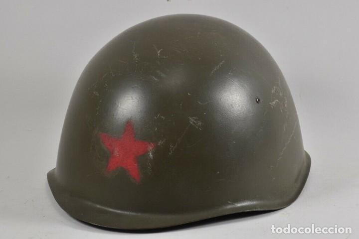 Militaria: ANTIGUO CASCO URSS ª GUERRA MUNDIAL TAMBIÉN USADO EN LA REPÚBLICA CHECA 170,00 € - Foto 7 - 215680538