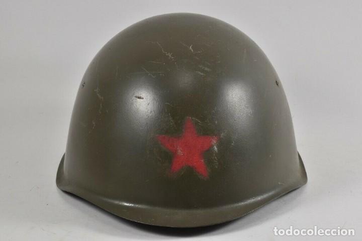 ANTIGUO CASCO URSS ª GUERRA MUNDIAL TAMBIÉN USADO EN LA REPÚBLICA CHECA 170,00 € (Militar - Cascos Militares )