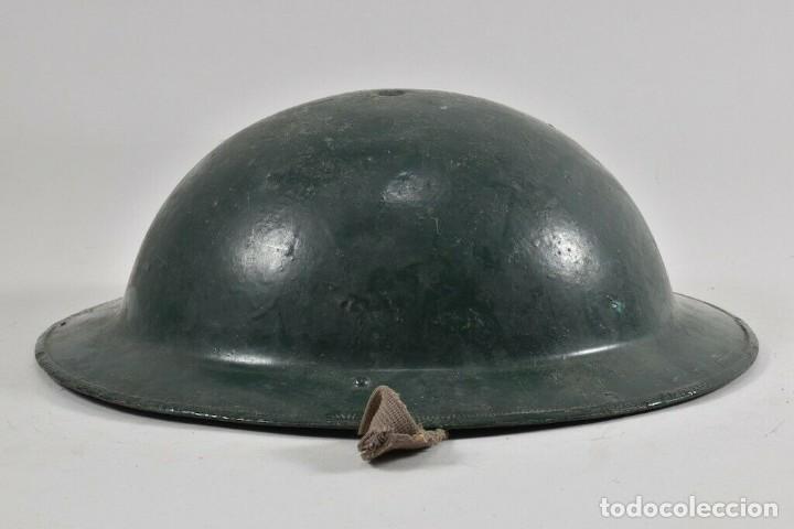 ORIGINAL PERFECTO MKII 1935 Y ANTIGUO CASCO MEDIDAS. 11X28X31 CM MAGNIFICO 394,00 € (Militar - Cascos Militares )