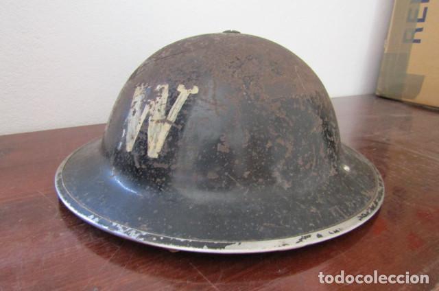ANTIGUO CASCO MILITAR EJERCITO BRITÁNICO INGLÉS II SEGUNDA GUERRA MUNDIAL MODELO HELMET STEEL MKII (Militar - Cascos Militares )