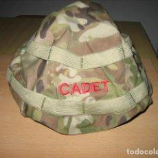 Militaria: FUNDA CAMO CADETE,PARA CASCO.. Lote 217349862