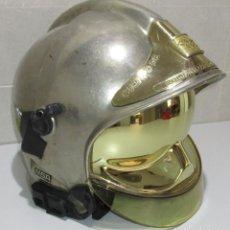 Militaria: CASCO MODELO MSA GALLET, CUERPO DE BOMBEROS COMUNIDAD DE MADRID. Lote 217364515
