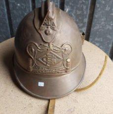 Militaria: CASCO DE BOMBEROS ESPAÑOL DE ORIGEN FRANCÉS, DE LATÓN. Lote 217916157