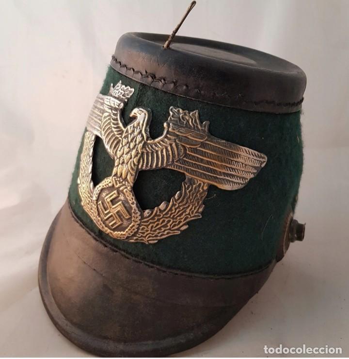 TSCHAKO DE NAZI ALEMANIA PÓLICE, TERCER REICH MUY RARO (Militar - Cascos Militares )