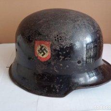 Militaria: CASCO ALEMÁN M-34 NAZI POLICIA, III REICH ORIGINAL. Lote 218947273