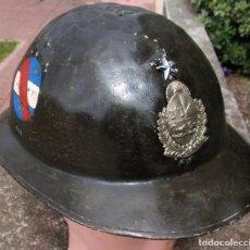 Militaria: WW II CASCO ADRIAN DE ALUMINIO EJERCITO URUGUAY PROTOTIPO AERONAUTICA SEGUNDA GUERRA MUNDIAL. Lote 219094702