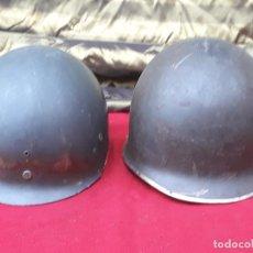 Militaria: LOTE : CASCO MILITAR Y SOBRECASCO METALICO COMPLETO.. Lote 219390405