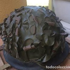 Militaria: ANTIGUO CASCO MILITAR POR IDENTIFICAR. AÑOS 50. PONE HR 1955. Lote 220779458