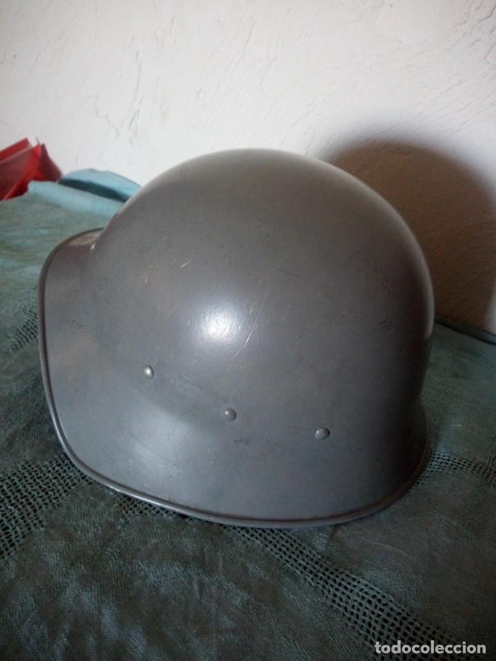 Militaria: Antiguo casco militar,cuero en el interior. - Foto 3 - 222284022
