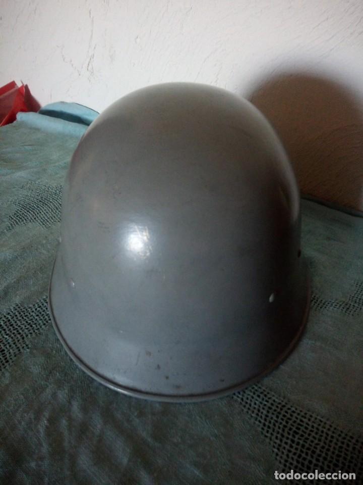 Militaria: Antiguo casco militar,cuero en el interior. - Foto 4 - 222284022