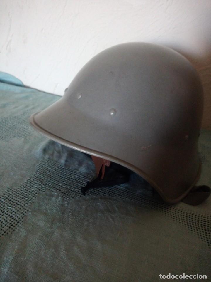 Militaria: Antiguo casco militar,cuero en el interior. - Foto 5 - 222284022