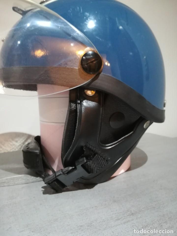Militaria: Casco los grises completo con cogotera tranquismo policia armada transicion españa antidisturbios - Foto 7 - 222334532