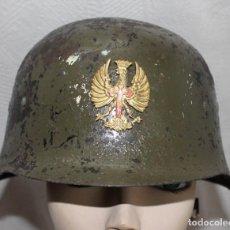 Militaria: CASCO DE ACERO MODELO Z-42/79,ALEMÁN O Z ,1979, VARIANTE DEL MODELO1935 ALEMÁN,GUARNICION TEJIDO. Lote 222409693