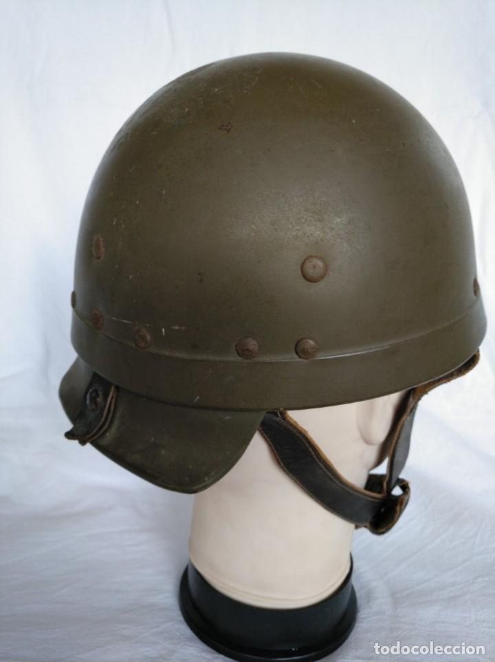 Militaria: CASCO DE TANQUISTA FRANCÉS, Mod. 1958 - Foto 3 - 223684551