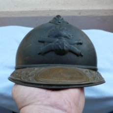 Militaria: FRANCIA CASCO ADRIAN DE ARTILLERIA CON PLACA CONMEMORATIVA - I GUERRA MUNDIAL. Lote 230969425